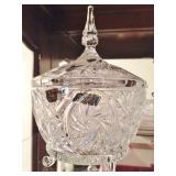 Violetta Crystal Footed Dish