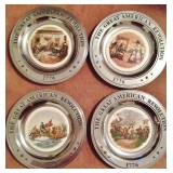 Great American Revolution Pewter Plates