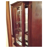 Tall Cherry Solid Wood China Cabinet