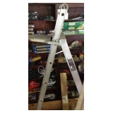 Aluminum Step Ladder with Shelf