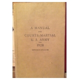 Manual for Courts-Martial U.S. Army 1928 and corrected to April 20 1943