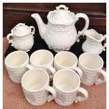 Pretty White Tea Set