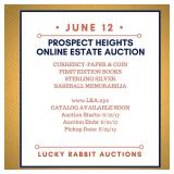 Prospect Heights Online Estate Auction-BASEBALL MEMORABILIA, STERLING, CURRENCY & MORE!
