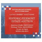 Piermont Online Estate Auction-Lucky Rabbit Auctions