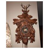 Black Forest Coo Coo Clock w Deer