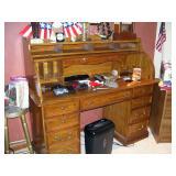 Repro roll top desk
