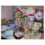 Packed kitchen - check out the vintage cookie jar
