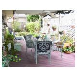 Covered patio with outdoor stuff