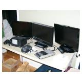 Several small flat screen tvs