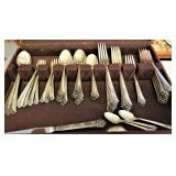 12 Piece Set of Sterling in the Damask Rose pattern