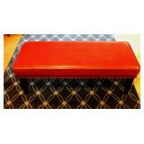 Red Leather Bench