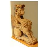Wood Carved Sphinx