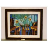 "Harold LeRoy ""Sunflowers"" Silkscreen"