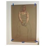 Brumberg Pastel Study on Craft Paper