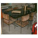 Smoke Glass Diningroom Table w/6 Howell Chairs