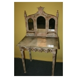 Gothic Carved Desk/Vanity