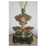 1 of Pair Capodimonte Lamps