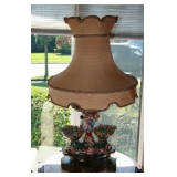 Matching Capodimonte Lamp with Shade
