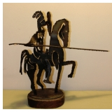 Iron Knight with Lance Sculpture