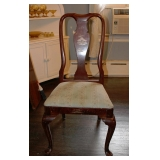 1 of 4 Queen Anne/Asian Decorated Side Chairs