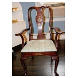 1 of 2 Queen anne/Asian Decorated Arm Chairs
