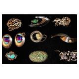 Assorted Sterling Pins and Earrings