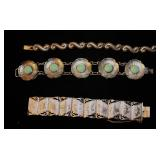 Sterling Siam American Indian and Mexican Bracelets