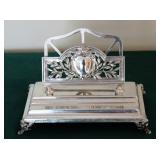 Tapazio Sterling Pen/Letter Tray