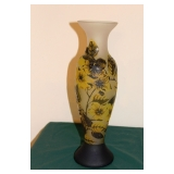 Signed 3 Color Cameo Vase