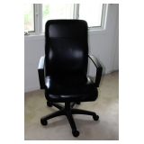 One of Two Lazyboy Office Leather Chairs
