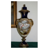 "30"" German Hand Painted Urn Front"