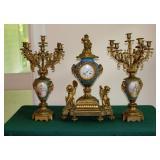 Bronze Paris France 3 Pc. Garniture Set