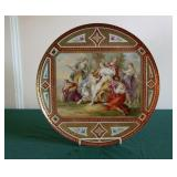 Vienna Beehive Mark 19th C HP Wall Plaque