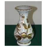 Bohemian Cut to Clear Vase