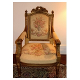 1 of 4 French Louis XVI Style Arm Chairs
