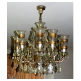 1 of 2 11 Light Crystal Chandeliers