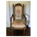 1 of 2 Louis XVI Style Dining Room Arm Chairs