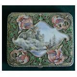 Rare Art Nouveau Silver Scenic and Enamel Cigarette Case