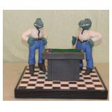 "Pool Players by ""Adism"" 1990"