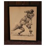 """Robert Riger"" 1960 Football Print for Shell Oil"