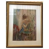 https://www.ebay.com/itm/114119718612 CH082: ECOLE DE BALLET III BY JANET TREBY framed serigraph 300