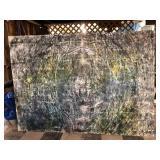 https://www.ebay.com/itm/124087515774 ML3006: Connor McManus Art Nowhere 5′ x 7′ Transferred Ink, Dy