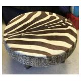 https://www.ebay.com/itm/124087520483SM2028: ZEBRA HYDE DRUM WITH GLASS TABLE TOP 35 x 21 in