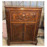 https://www.ebay.com/itm/114119678903SM3002: Rococo Style Antique Hideway Carved Wooden Bar