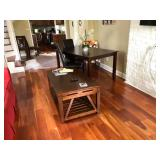 PA009 Coffee Table $95, Dinning Table w/ 4 Leather Chairs $250 We will not hold unless Paid for Venm