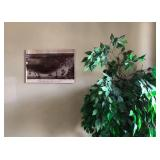 PA041 City of New Orleans Tin Type Hanging Wall Art $35, Artificial Plant $20 . We will not hold unl