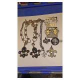 https://www.ebay.com/itm/114174499766 AB0008 COSTUME JEWELRY LOT OF EIGHT FLEUR-DE-LIS JEWELRY PCS $