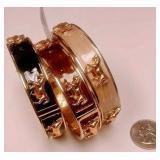 https://www.ebay.com/itm/114174500772 BOX074AM COSTUME JEWELRY   $20.00 SET OF THREE METAL BANGLE BR