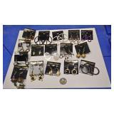 https://www.ebay.com/itm/114173879359 BOX074Z COSTUME JEWELRY LOT OF FIFTEEN PIERCED EARRINGS  $20.0