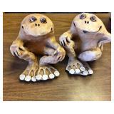 https://www.ebay.com/itm/124145393359 KB0058: Dave Grossman Vintage 1978 Clay Ceramic Frog Sculpture